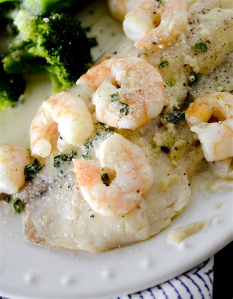 olive garden s baked tilapia with shrimp 9 smartpoints