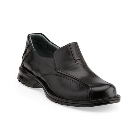 clarks black loafers clarks escalade burnished loafers in black for lyst