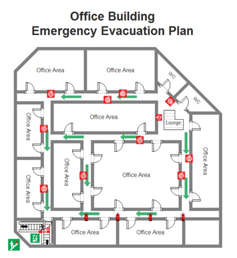 fire exit floor plan template emergency evacuation plan free emergency evacuation plan