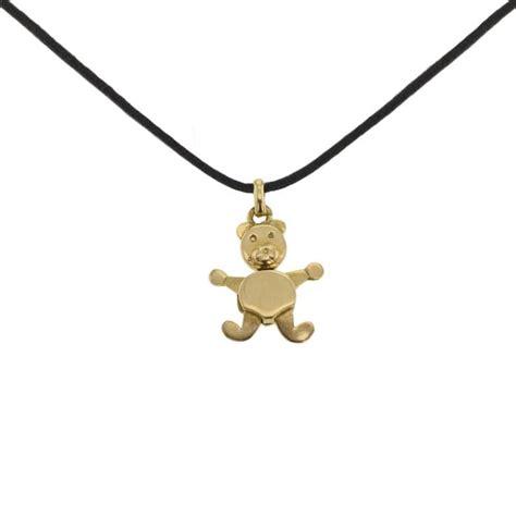 orsetto pomellato 272903 pomelatto pendentif orsetto or jaune bijoux