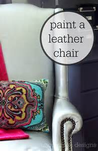 how to paint a chair painting a leather chair yes i did uncommon designs