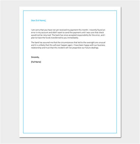 business apology letter late payment apology letter for late payment 4 sles exles