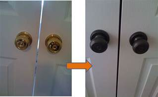 engineering and style spray paint door knob