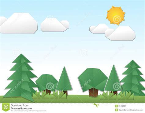 origami land stock image image 23492691