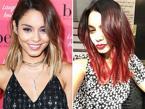 vanessa hudgens dyes her hair red breaking news and photos vanessa hudgens red hair vanessa hudgens dyes