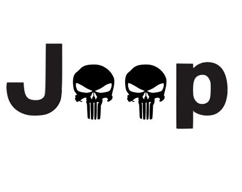 Jeep Skull Sticker Jeep Punisher Skull Decals Custom Decal For Your Car Jeep
