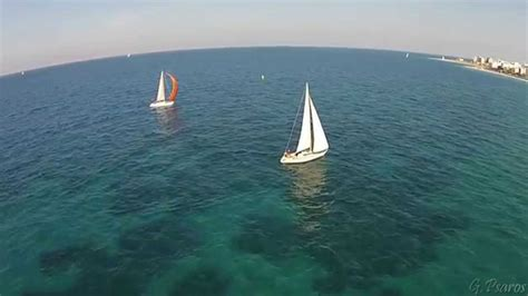 sailing greece video sailing race rhodes greece aerial video φθινοπωρινό