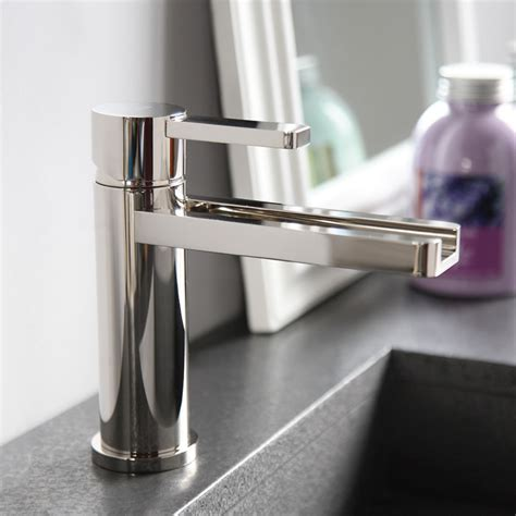 Modern Bathroom Faucets And Fixtures by Aqua Polished Nickel Modern Bathroom Faucet