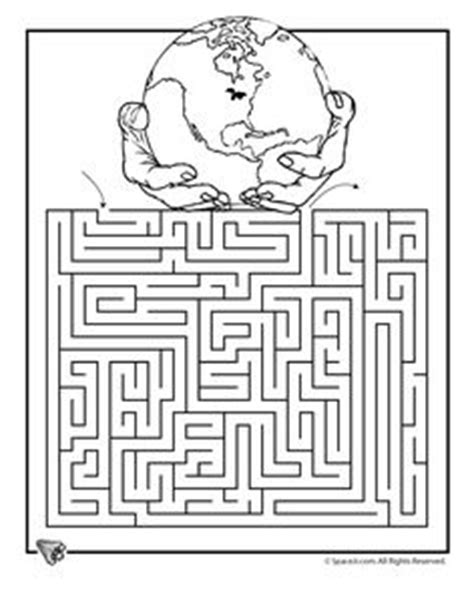 printable geography maze earth templates and earth day on pinterest