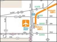 Orange Line Chicago Map by Cta Maps Bus And L System Maps