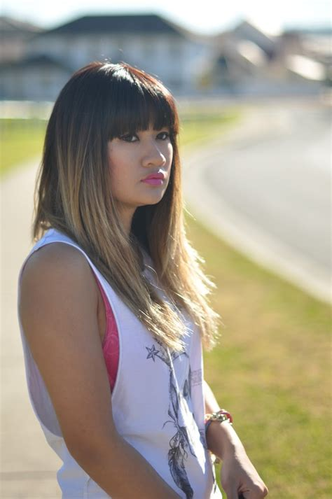 dip dye hairstyles with fringe lucy and the runaways an update on my balayage dip dyed