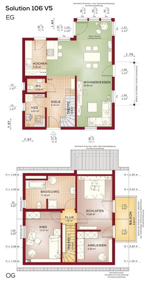 Treppenhaus Einfamilienhaus Offen by Grundrisse Einfamilienhaus Satteldach 3 Zimmer