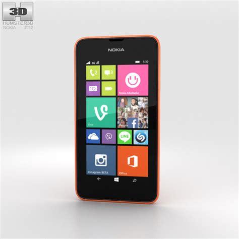 Nokia Lumia 530 Orange nokia lumia 530 bright orange 3d model humster3d