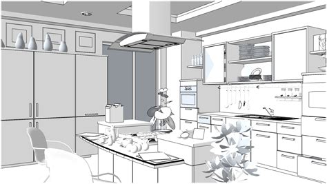 Software For Kitchen Cabinet Design sketchup texture free sketchup 3d scene kitchen area