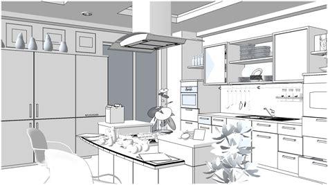 Kitchen Design 3d Software Free Download sketchup texture free sketchup 3d scene kitchen area