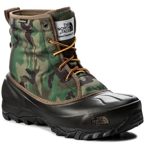 snow boots the tsumoru boot t93mksyrl black forest woodland camo tnf black winter