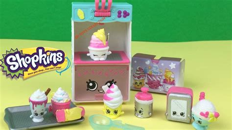 Shopkins Cool shopkins season 3 food fair cool playset collection unboxing and pretend play