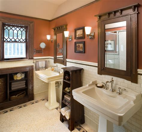 Mission Style Bathroom Bathroom1 Hill House Craftsman Bathroom New York By Carisa Mahnken Design Guild