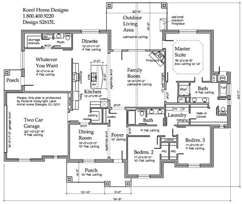 Korel House Plans Country Plan S2615l Texas House Plans Over 700 Proven