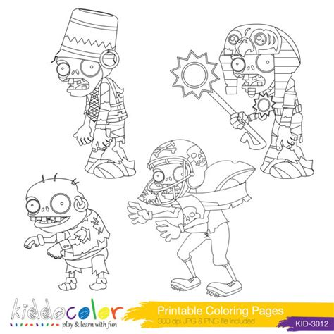 plants vs zombies coloring pages hero lego digital by