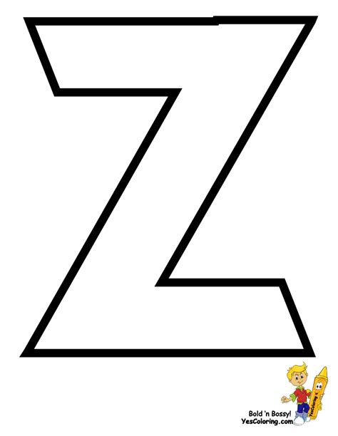 Alphabet Z Colouring Pages Z Coloring Page