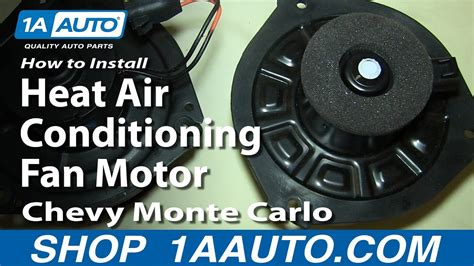 install replace heat air conditioning fan motor