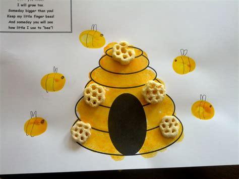 bee craft for bee fingerprint craft teaching teaching