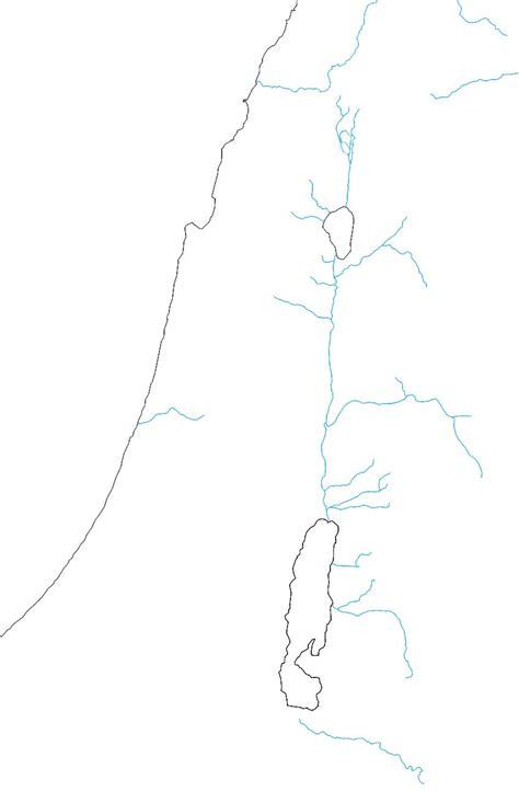 Free Outline Map Of Israel by Eworkbook Genesis Maps