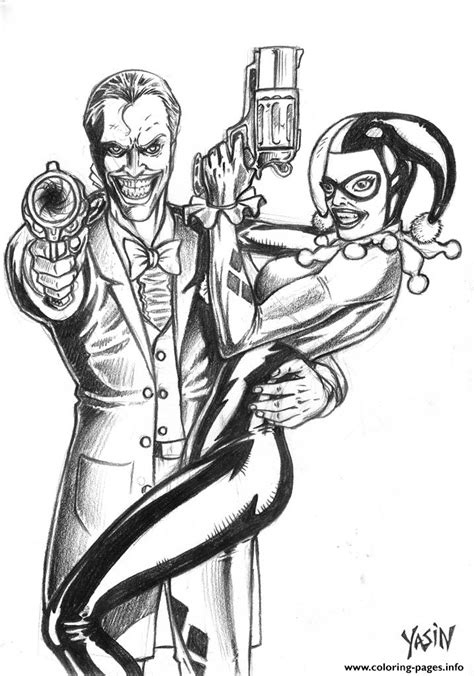 harley quinn joker coloring pages joker and harley quinn by yasinyayli harley quinn coloring