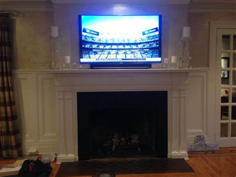 55 Inch Tv Above Fireplace by 1000 Images About Fireplace On Wood Fireplace