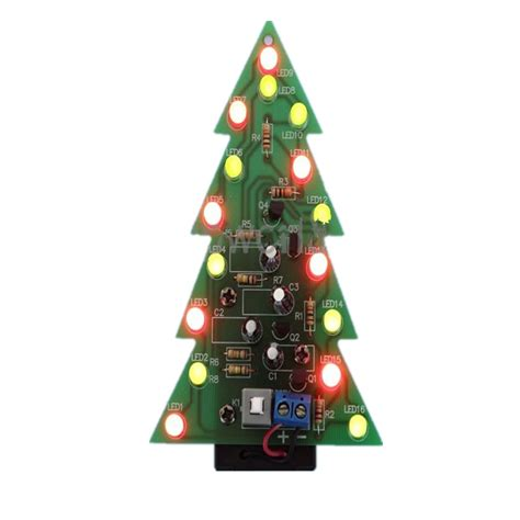 tree lights circuit new diy kit tree led light green
