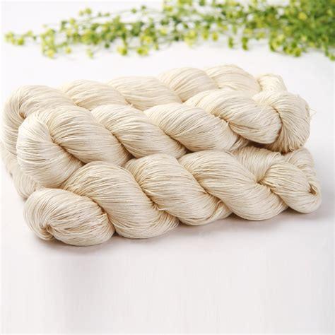knitting pattern silk yarn 100 silk yarn natural white yarn for dyeing and hand