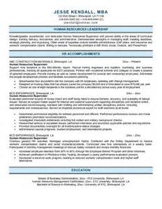 Resume Sample Human Resources Manager Term Papers Written