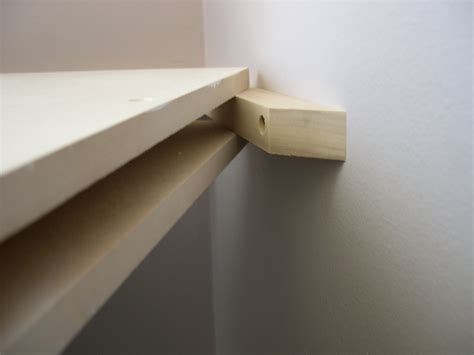 How To Build A Floating Corner Shelf by Building Wood Shelf Supports Woodworking Projects