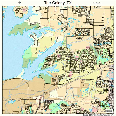 the colony texas map the colony texas map 4872530
