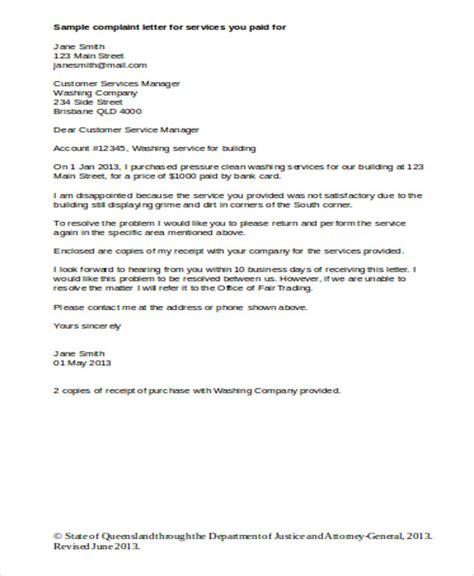 sample business complaint letter templates ms