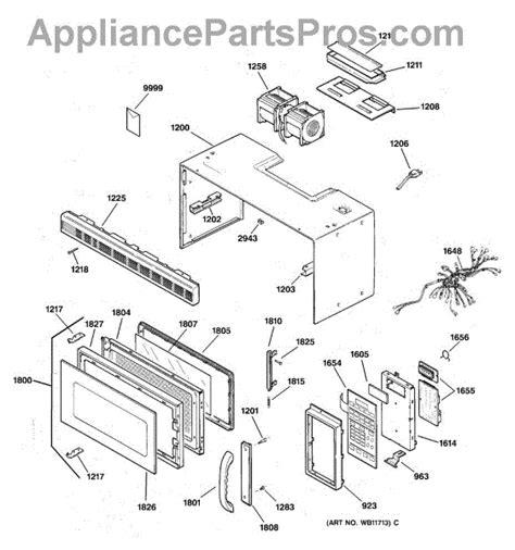 ge microwave parts diagram ge wb15x335 microwave door handle appliancepartspros