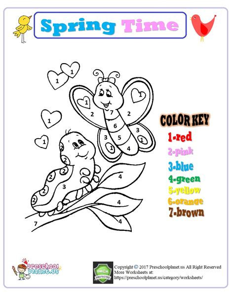 color by number for kindergarten color by number worksheet for kindergarten