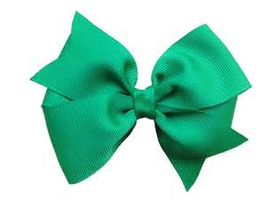 hair bows 4 inch green hair bow green bow by browneyedbowtique on etsy