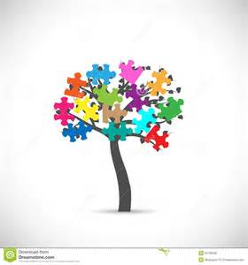 tree puzzles puzzle tree stock vector image of inspiration leaf