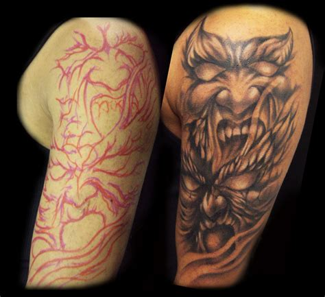 freehand tattoo my freehand evil by hatefulss on deviantart