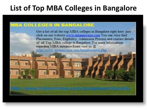 Best Mba Colleges In Bangalore 2016 by Mba Colleges In Bangalore