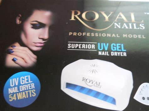 royal nails 54 watt uv l free wow brand new 54 watt royal nails professional uv