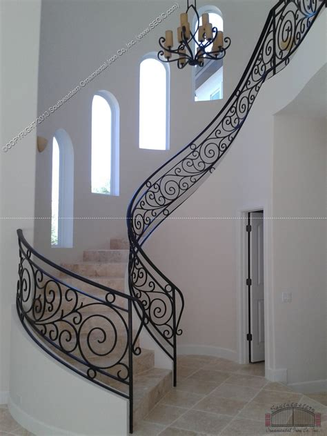 Best Gate For Top Of Stairs With Banister Wrought Iron Stair Railing 3
