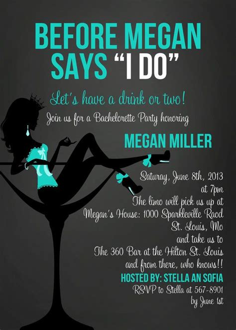 bridal shower and bachelorette same day invitations wording before she says i do in blue bachelorette