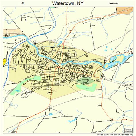 watertown ny watertown new york map 3678608