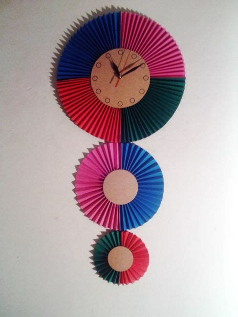 How To Make A Paper Clock - decorative paper wall clock