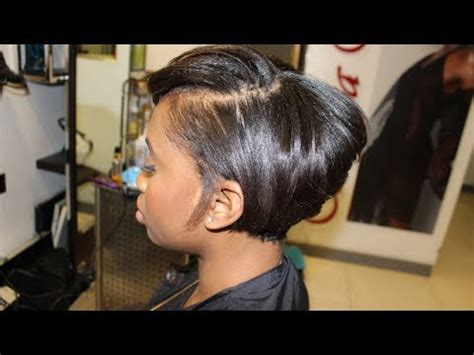 short hair cut with no relaxer salon work growing a pixie out into a short bob on the