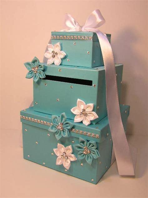 make your own wedding gift card holder wedding card box blue gift card box money box holder special