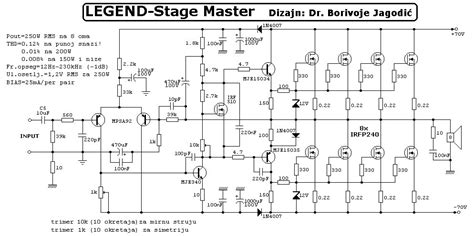 250w rms power lifier legend stage master schematic